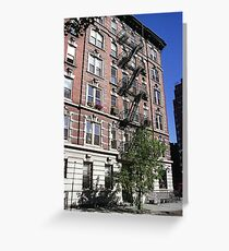 Apartment block, Greenwich Village Greeting Card