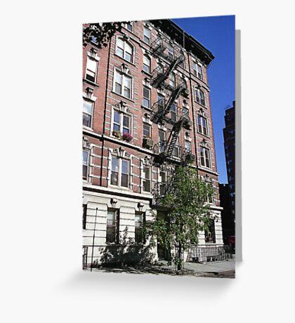 Apartment block, Greenwich Village Greeting Card