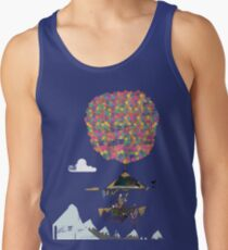 Riding A Bicycle Through The Mountains Tank Top