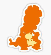PKMN Silhouette - Scraggy Family Sticker