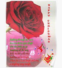 Christmas Card, Rose challenge Poster
