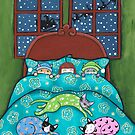 Bedtime With Cats by Ryan Conners