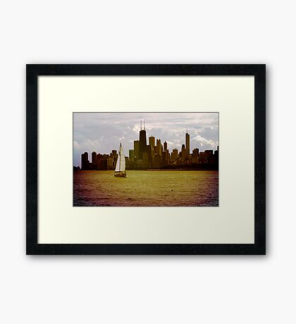 The magic of colors Framed Print