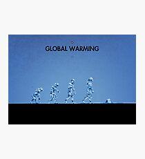 99 Steps of Progress - Global warming Photographic Print