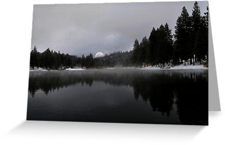 """ Smoke on the water ""@! Christmas Card Lake. by CanyonWind"