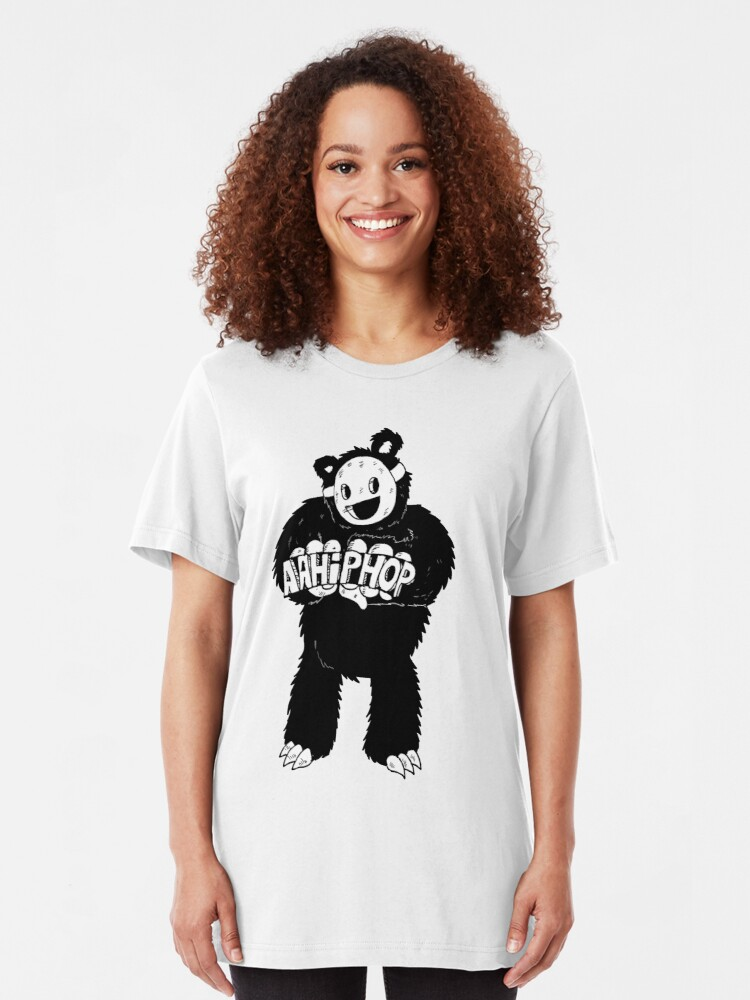 Alternate view of AAHIPHOP Love/Hate Bear Slim Fit T-Shirt