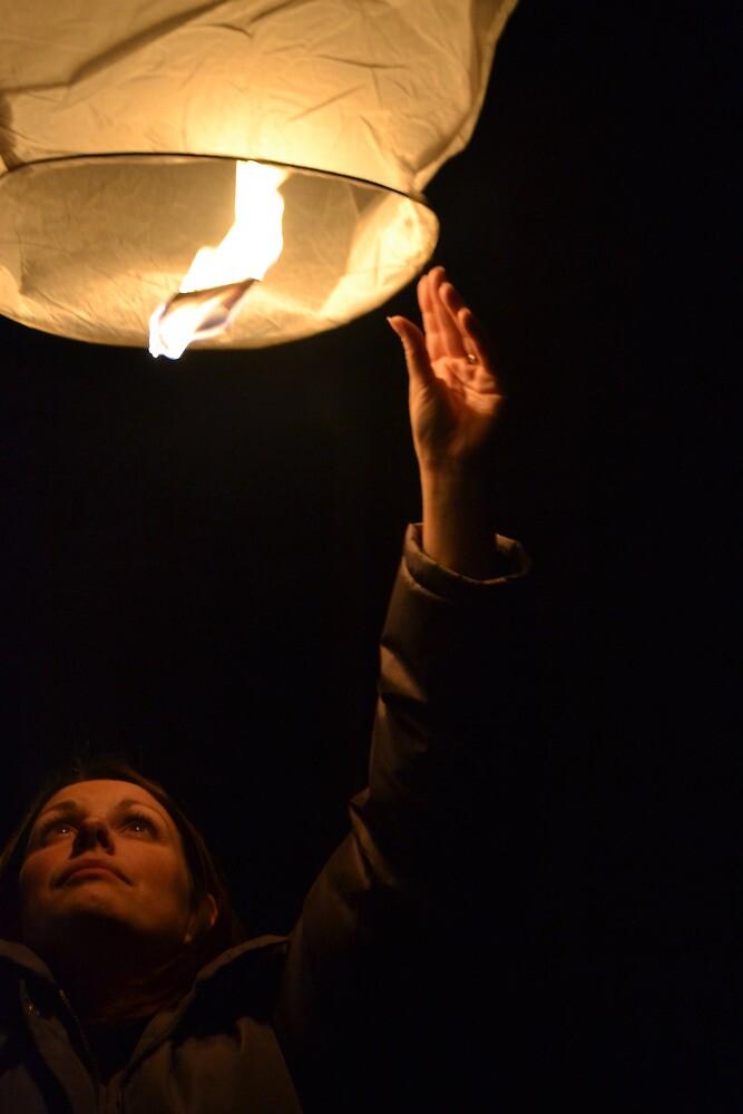 sky lantern by wednesday11