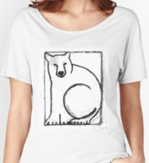 Black and White Bear Painting Women's Relaxed Fit T-Shirt