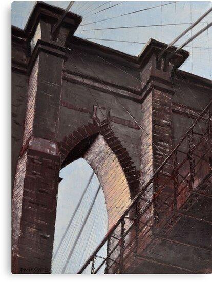 Brooklyn Bridge, Stone and Iron by Roman Scott