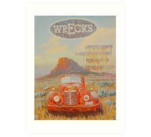 Wrecks Art Print