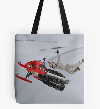 Snowmobile Tricks Tote Bag
