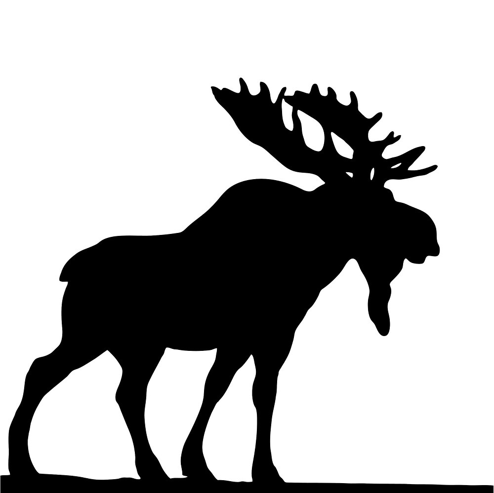 moose silhouette by collins  redbubble - moose silhouette