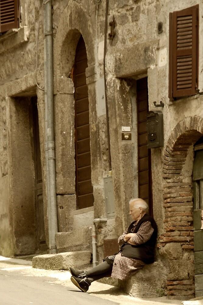 Sunday Nap-Bomarzo, Italy by Deborah Downes