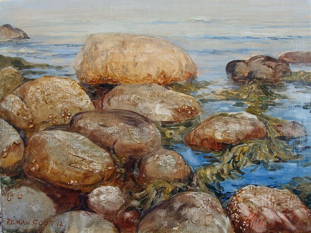 Stones and Sea by Roman Scott