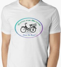 Share the Road - Bicycles Mamachari-style Men's V-Neck T-Shirt