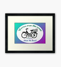 Share the Road - Bicycles Mamachari-style Framed Print