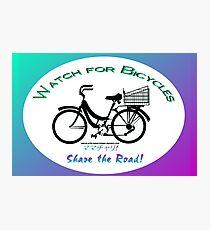 Share the Road - Bicycles Mamachari-style Photographic Print