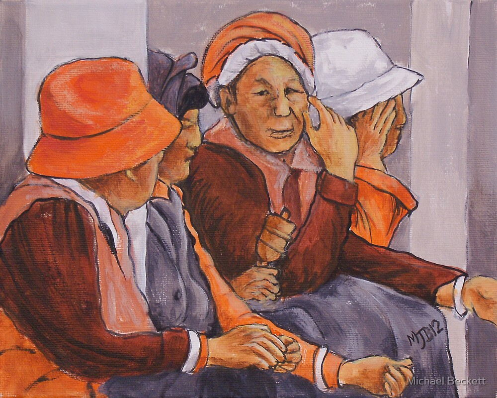 Tibetan Gathering by Michael Beckett