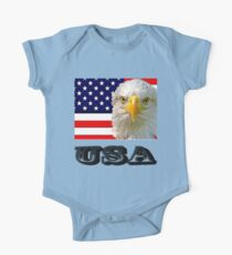 Flag and Eagle  One Piece - Short Sleeve
