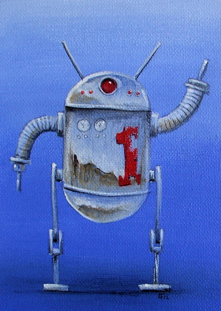 Retro Robot  #1 by Lee Twigger