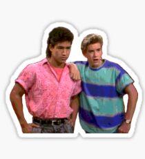 Slater and Zack Sticker