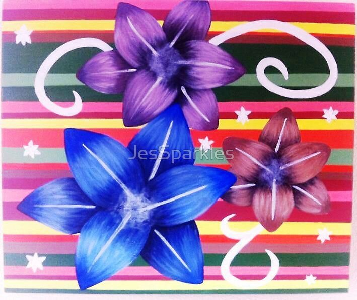 flowers and stripes by JesSparkles