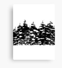 Pines Laden with Snow  Canvas Print