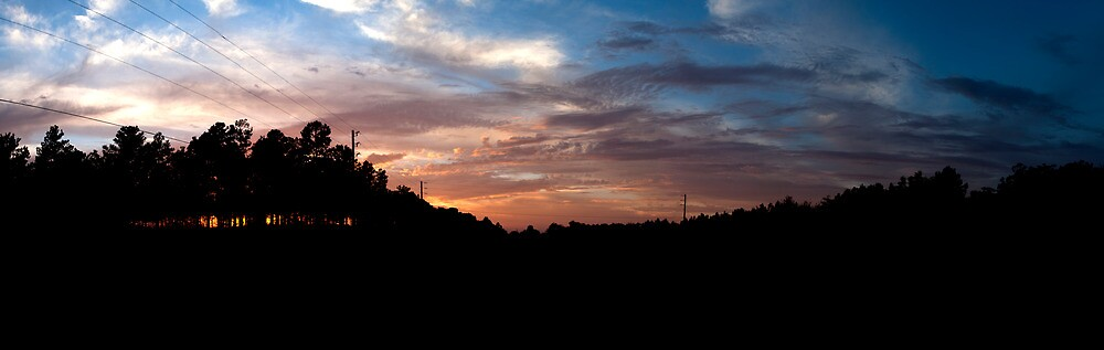 Southern Sunset Panorama by MarcPeck