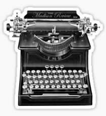 The Madison Review Typewriter Sticker