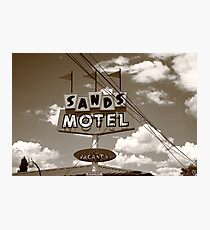 Route 66 - Sands Motel Photographic Print