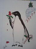 Holiday penguin by Judi Corey