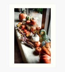 Pumpkins II Art Print