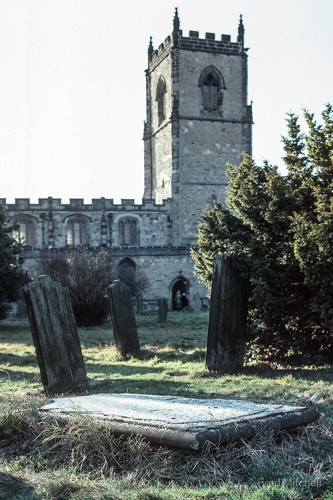 Grave at St Oswald's Durham 19810104 0024 by Fred Mitchell