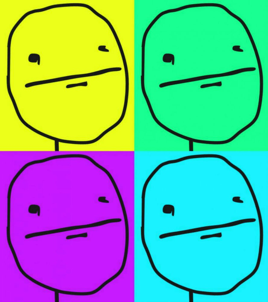 Poker face meme rageface poster by TastyLeprechaun
