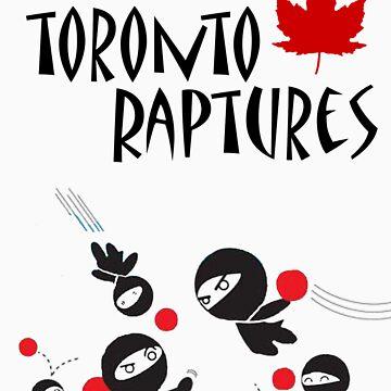 Toronto Raptures Dodgeball tees by darkestsoul