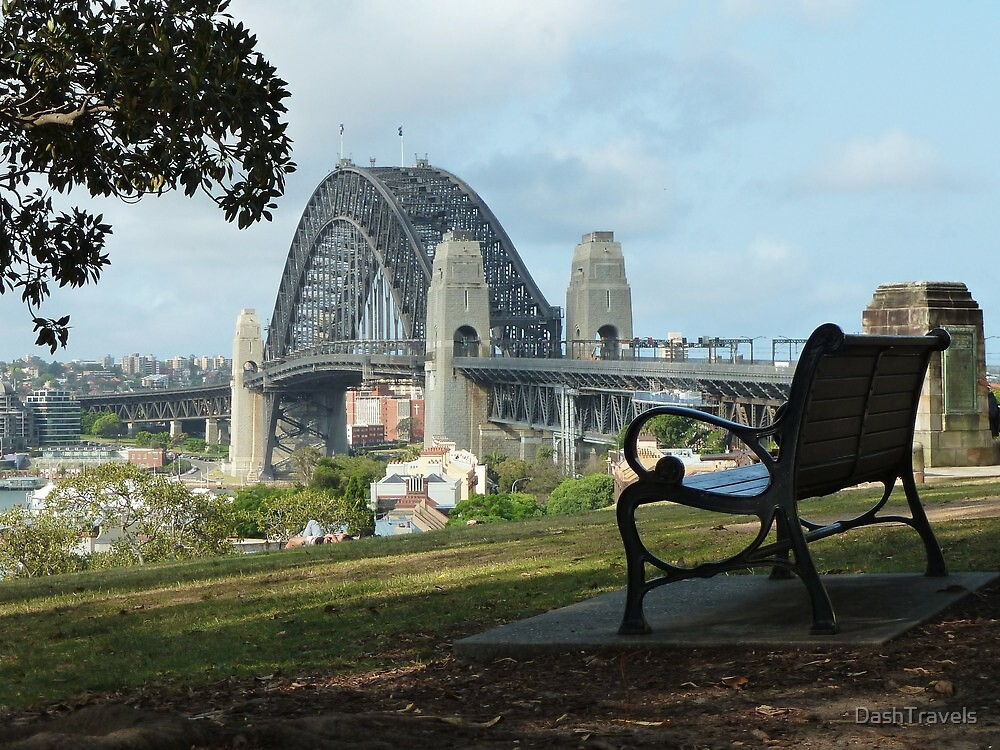 Seat with a view - Observatory Hill, Sydney by DashTravels