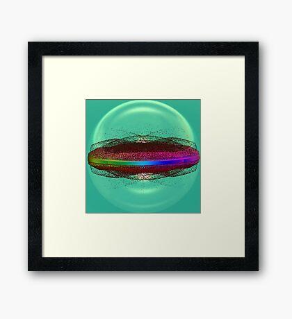 Fractal in green Framed Print