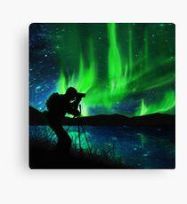 shooting aurora Canvas Print