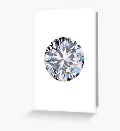 brilliant cut diamond  Greeting Card