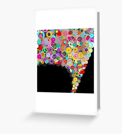 speech bubble Greeting Card