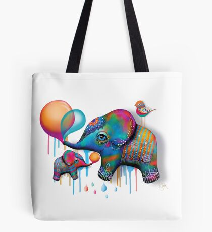 Party Elephants Tote Bag