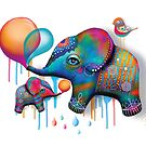 Party Elephants by © Karin Taylor