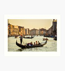 Venetian Gondola at dawn Art Print