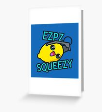 Ezpz Lemon Squeezy v1 Greeting Card