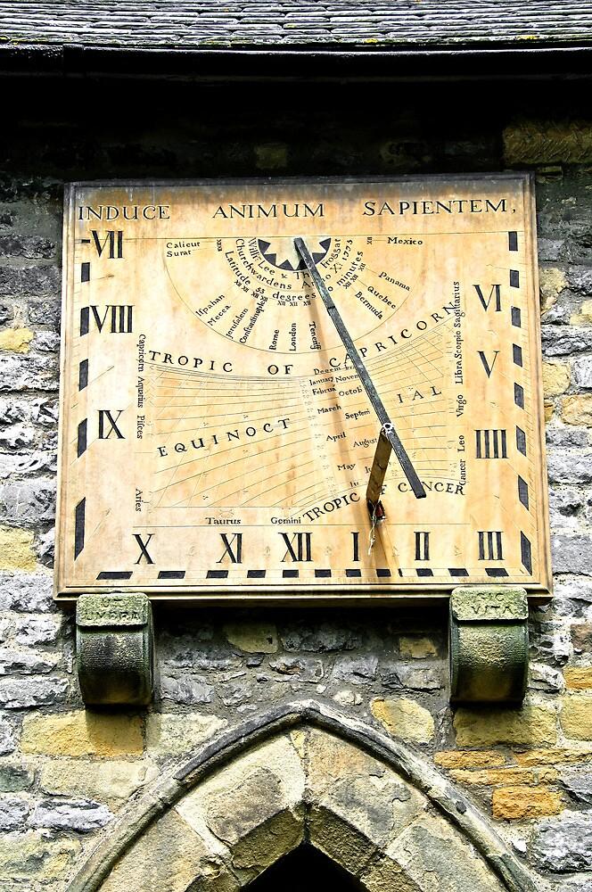 Vertical Sundial, Eyam Parish Church  by Rod Johnson