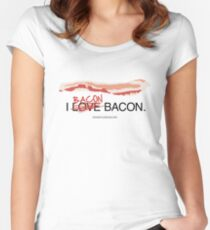I Bacon Bacon Women's Fitted Scoop T-Shirt
