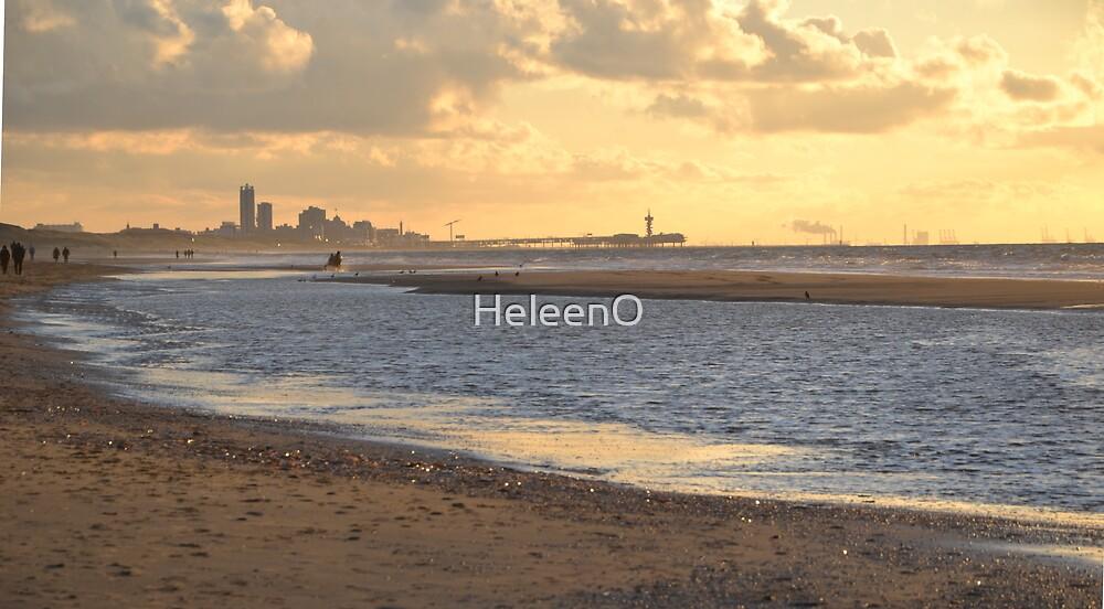 Sunset at Sea II by HeleenO