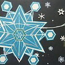 falling flakes. cascading crystals by Hannah STICKNEY