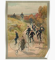 Antique Bicycling Print Poster