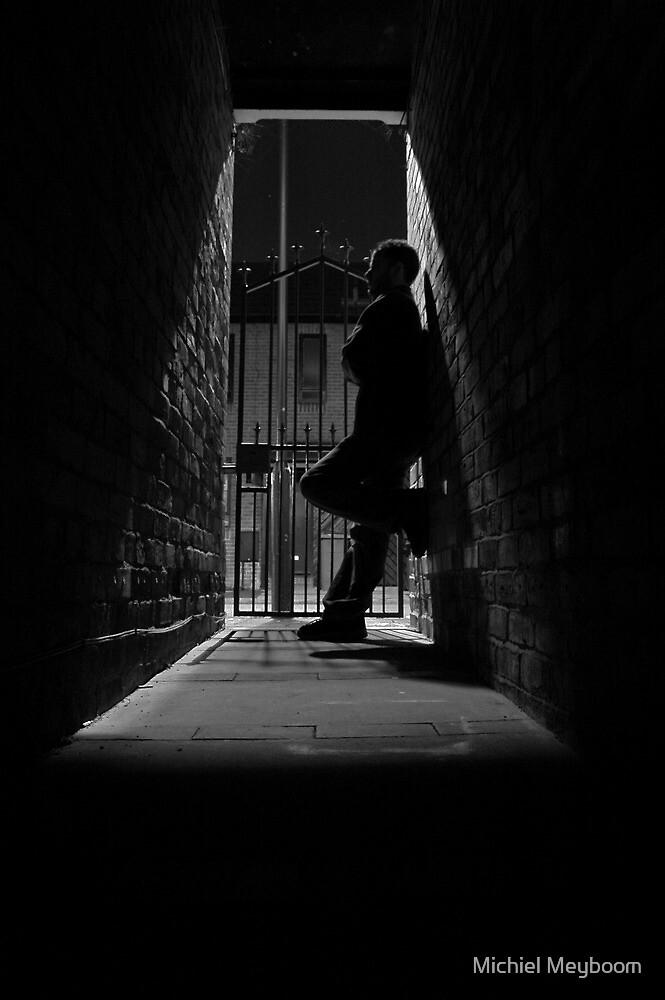 Stranger in a dark alley by Michiel Meyboom